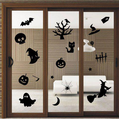 Discount DIY Halloween Decoration Wall Stickers - BLACK  Mobile