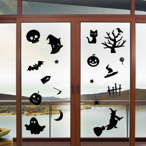 Online DIY Halloween Decoration Wall Stickers - BLACK  Mobile