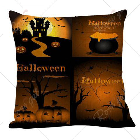 Outfits Pumpkin Bat Printed Halloween Pillow Case - W18 INCH * L18 INCH COLORMIX Mobile