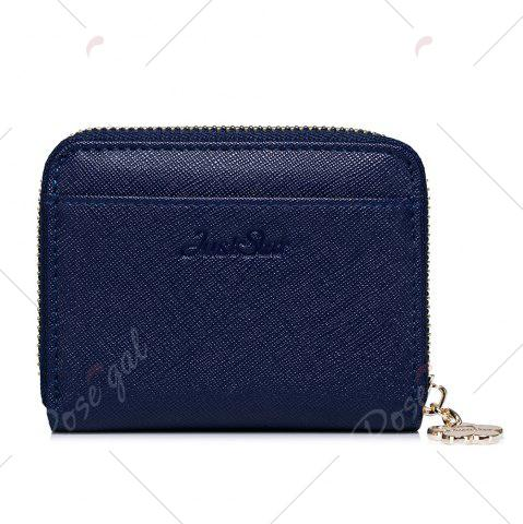 Unique Faux Leather Cherry Pattern Small Wallet - NAVY BLUE  Mobile