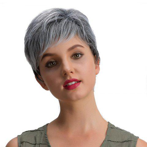 Outfit Short Inclined Bang Fluffy Layered Straight Synthetic Wig - GRANDMA  Mobile