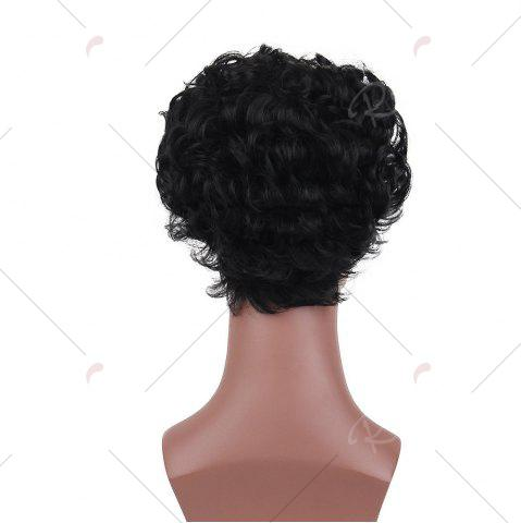 Store Short Layered Shaggy Curly Synthetic Wig - 26CM BLACK Mobile