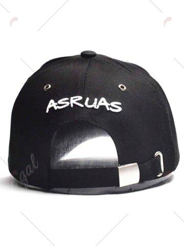 Discount Paper Plane Pattern Letters Embroidery Baseball Hat - BLACK  Mobile