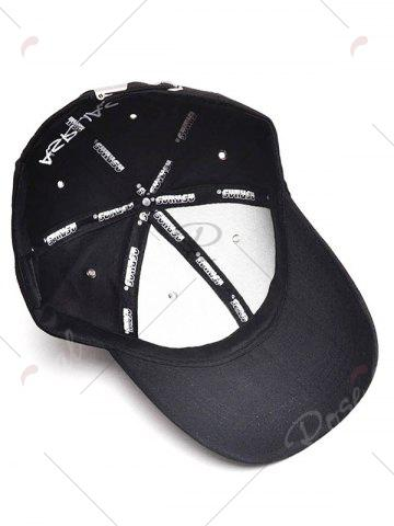 Buy Paper Plane Pattern Letters Embroidery Baseball Hat - BLACK  Mobile