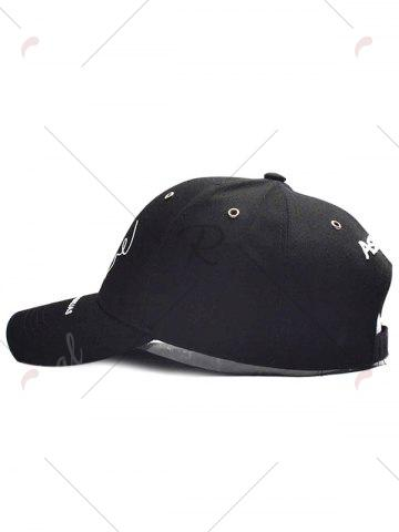 Online Paper Plane Pattern Letters Embroidery Baseball Hat - BLACK  Mobile