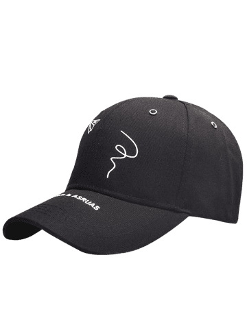 Shops Paper Plane Pattern Letters Embroidery Baseball Hat