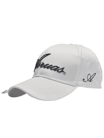 Fashion Letters Embroidery Long Tail Embellished Baseball Cap WHITE