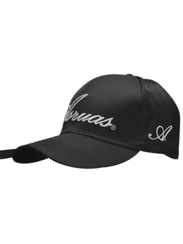 Outfit Letters Embroidery Long Tail Embellished Baseball Cap FULL BLACK