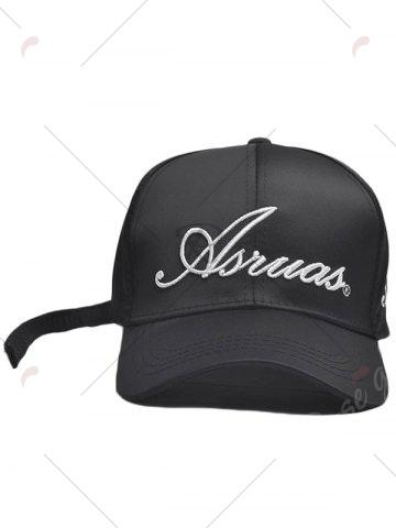 Chic Letters Embroidery Long Tail Embellished Baseball Cap - FULL BLACK  Mobile