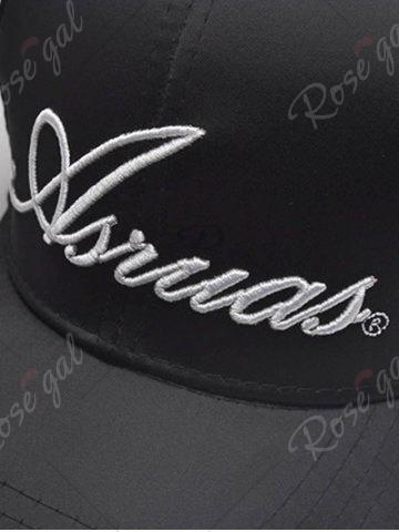 Hot Letters Embroidery Long Tail Embellished Baseball Cap - FULL BLACK  Mobile