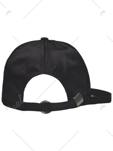 Store Letters Embroidery Long Tail Embellished Baseball Cap - FULL BLACK  Mobile