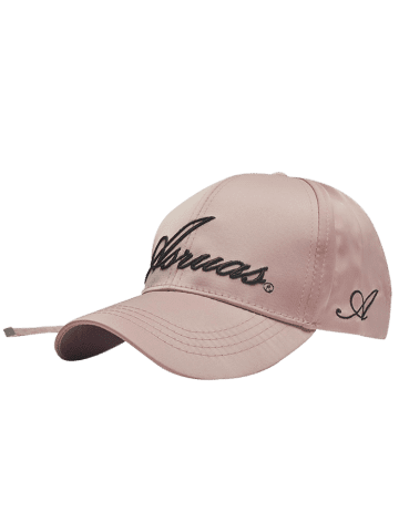 Chic Letters Embroidery Long Tail Embellished Baseball Cap PINKBEIGE