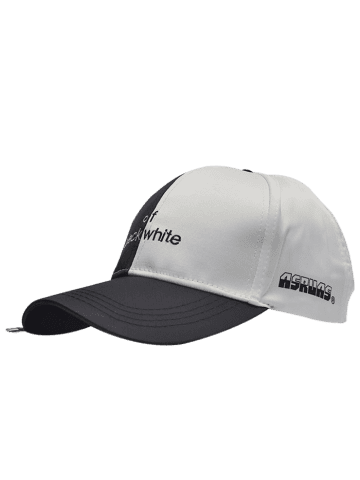 Hot Letters Embroidered Two Tone Baseball Cap BLACK WHITE