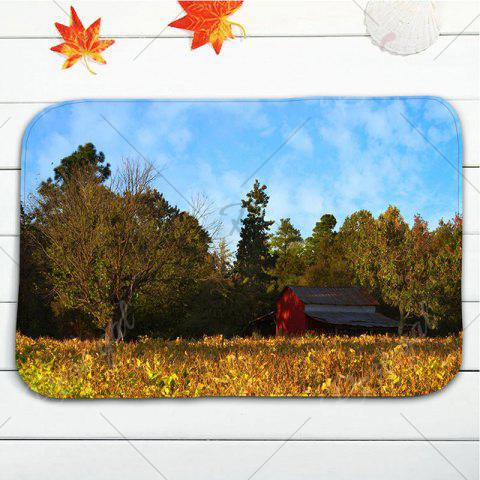 Outfit 3Pcs/Set Flannel Autumn Scenery Print Bath Toilet Rug - YELLOW  Mobile