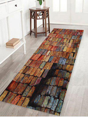 Shops Colorful Brick Print Anti-skid Water Absorption Area Rug BRICK-RED W16 INCH * L47 INCH