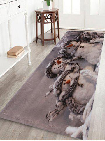 Fashion Winter Snowmen Print Anti-skid Water Absorption Area Rug