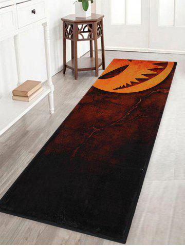 Chic Halloween Pumpkin Print Anti Slip Indoor Outdoor Area Rug MANDARIN W16 INCH * L47 INCH