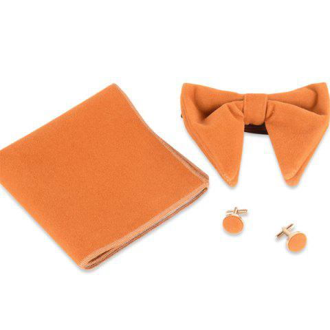 Fancy Three Pieces Handkerchief Bowtie Cufflink Suit