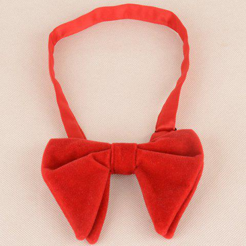 Outfit Three Pieces Handkerchief Bowtie Cufflink Suit - BRIGHT RED  Mobile