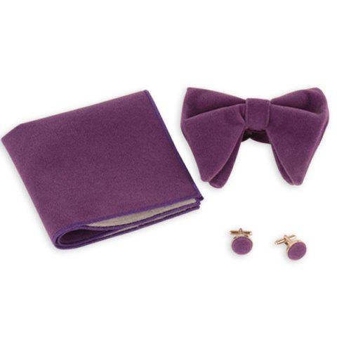 Latest Three Pieces Handkerchief Bowtie Cufflink Suit