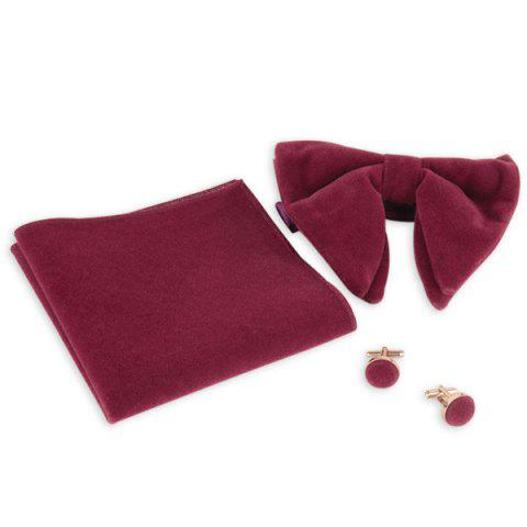 Outfit Three Pieces Handkerchief Bowtie Cufflink Suit