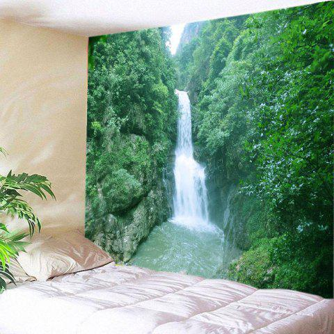 Mountain Waterfall Print Tapestry Wall Hanging Art Décoration