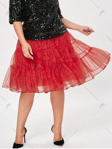 Fashion Plus Size Cosplay Light Up Party Skirt - RED 2XL Mobile