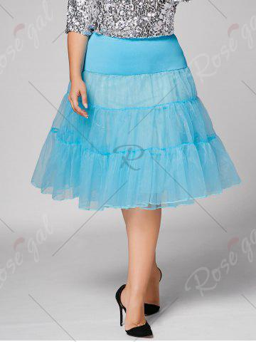 Chic Plus Size Cosplay Light Up Party Skirt - LIGHT BLUE 5XL Mobile