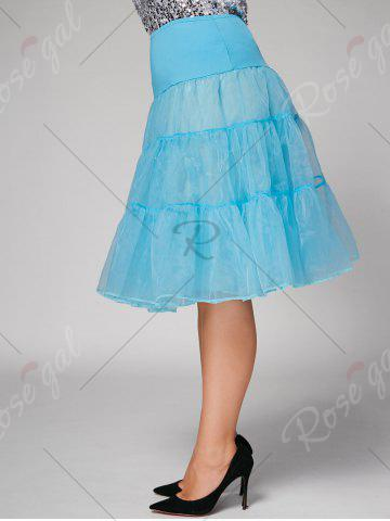 Fashion Plus Size Cosplay Light Up Party Skirt - LIGHT BLUE 6XL Mobile