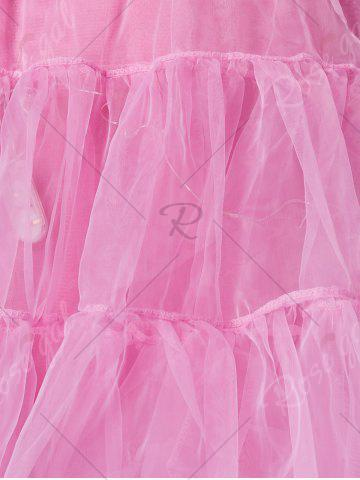 Store Plus Size Cosplay Light Up Party Skirt - 6XL LIGHT PINK Mobile