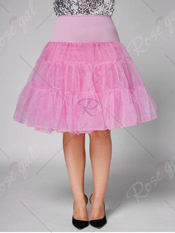 Outfit Plus Size Cosplay Light Up Party Skirt - 6XL LIGHT PINK Mobile