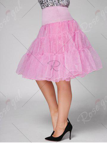 Latest Plus Size Cosplay Light Up Party Skirt - LIGHT PINK 2XL Mobile