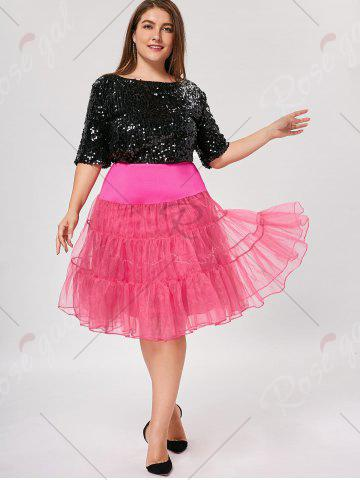 Shop Plus Size Cosplay Light Up Party Skirt - TUTTI FRUTTI 4XL Mobile