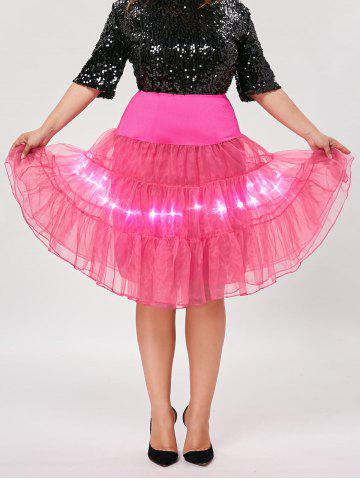 Outfits Plus Size Cosplay Light Up Party Skirt - TUTTI FRUTTI 4XL Mobile
