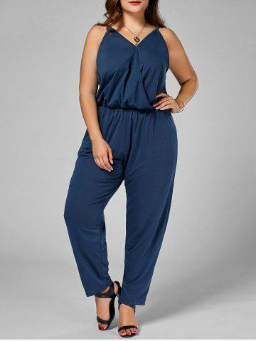 Affordable Plus Size Cami Jumpsuit CADETBLUE 3XL