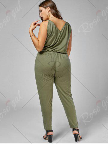 Hot Plus Size Cami Jumpsuit - 2XL ARMY GREEN Mobile