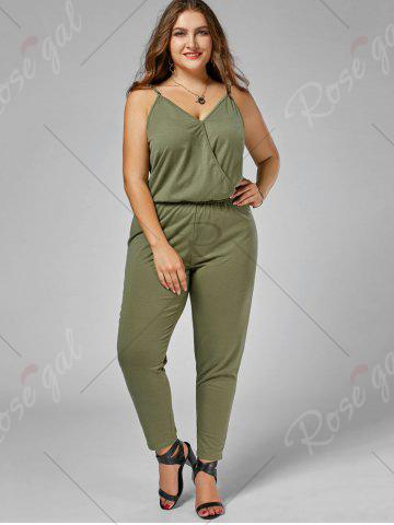 New Plus Size Cami Jumpsuit - 2XL ARMY GREEN Mobile