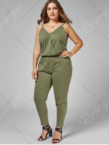 Sale Plus Size Cami Jumpsuit - 2XL ARMY GREEN Mobile