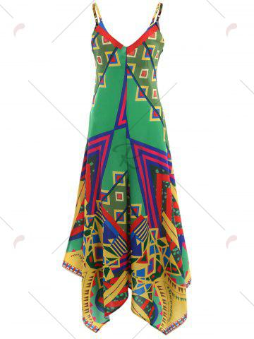 Outfits Asymmetrical Printed Cami Palazzo Jumpsuit - XL COLORMIX Mobile