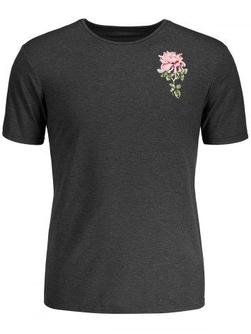 Cheap Tropical Flower Print T-shirt