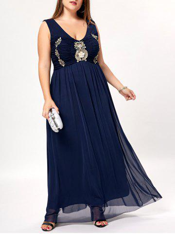 Outfits Plus Size Maxi Evening Prom Flowy Dress