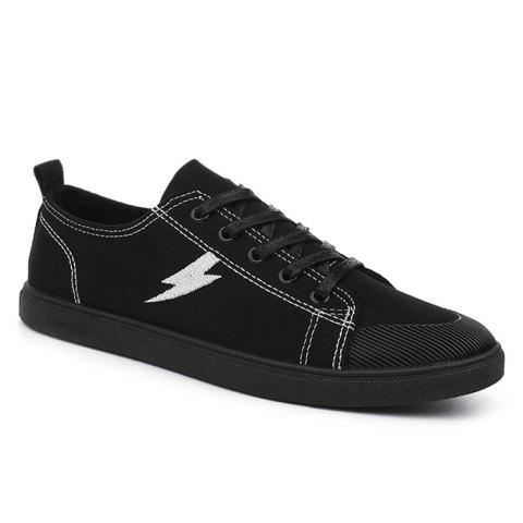 Affordable The Flash Lightning Canvas Sneakers