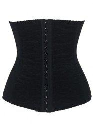 Steel Boned Waist Corset - BLACK S