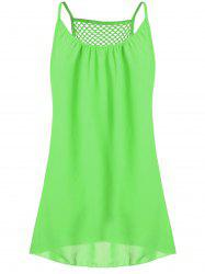 Spaghetti Strap Chiffon Mini Shift Dress - NEON GREEN