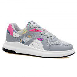 Mesh Color Block Athletic Shoes