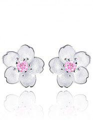 Faux Crystal Floral Shape Earring Jackets -
