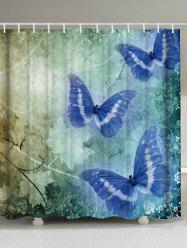 Vintage Butterfly Shower Curtain Bathroom Decoration - COLORMIX