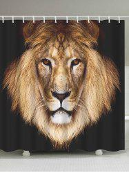 Lion Head Waterproof Fabric Shower Curtain
