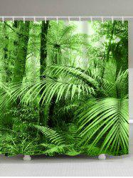 Tropical Rainforest Mouldproof Bathtub Shower Curtain - GREEN