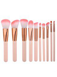 Ensemble de brosses de maquillage beauté 10Pcs - Teint